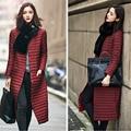 2016 Nueva Moda Versión Coreana De La Parte Larga De Rodillas Delgadas Por la Chaqueta Abrigo de Invierno Las Mujeres Rectas A027