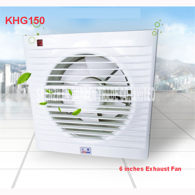 KHG 150 6 Inch Mini Wall Window Fan Bathroom Toilet Kitchen Exhaust ...