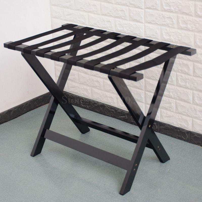 Solid wood luggage rack hotel floor folding racks home bedroom put sleep clothes simple shelves - Цвет: VIP 7