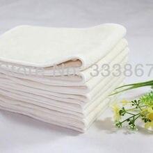 [Sigzagor] 5 бамбук моющиеся вставки повторного использования Высокое качество для маленьких тканевые подгузники 4 слойные