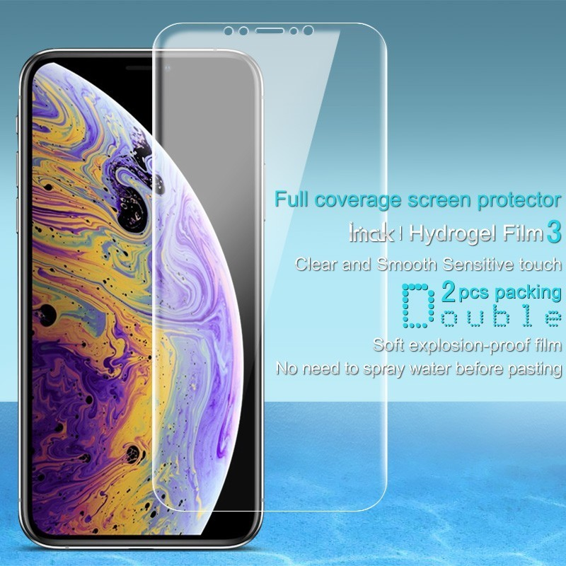 IMAK Screen Protector For Apple iPhone XS MAX Hydrogel III Front Back Soft TPU Protective Film