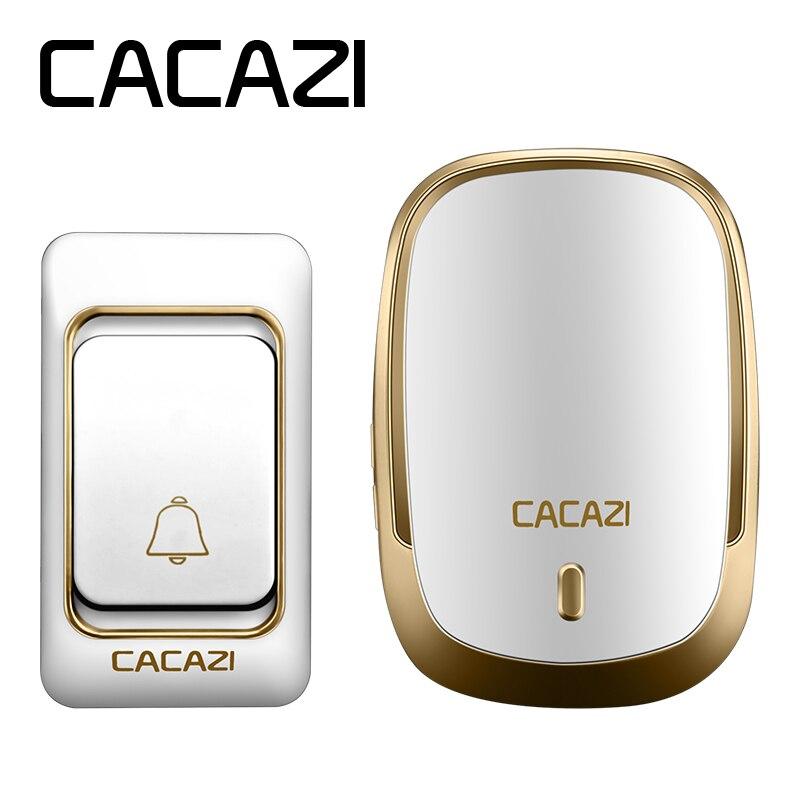 CACAZI Nouvelle Smart home Sonnette Étanche 200 m plage de travail Sans Fil sonnette AC 110-220 V 36 anneaux 4 volume porte carillon