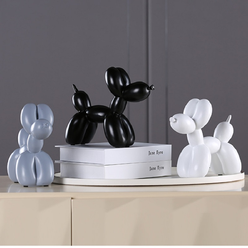 New Fashion Resin Balloon Dog Crafts Sculpture Creative Gifts Modern Simple Home Decorations Statues 8 Colors Desktop Ornament|Statues & Sculptures| |  - title=
