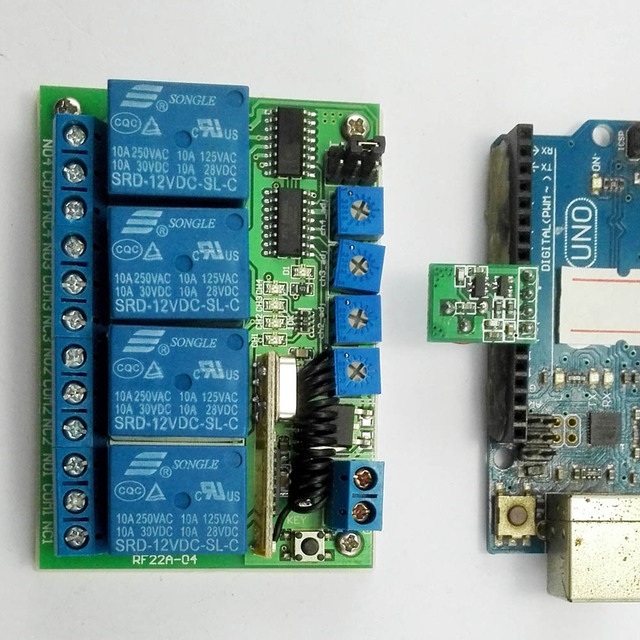 US $14 39 10% OFF|433M for Arduino Remote Control UART PC USB RF Wireless  Relay Controller PT2262 MCU-in Integrated Circuits from Electronic
