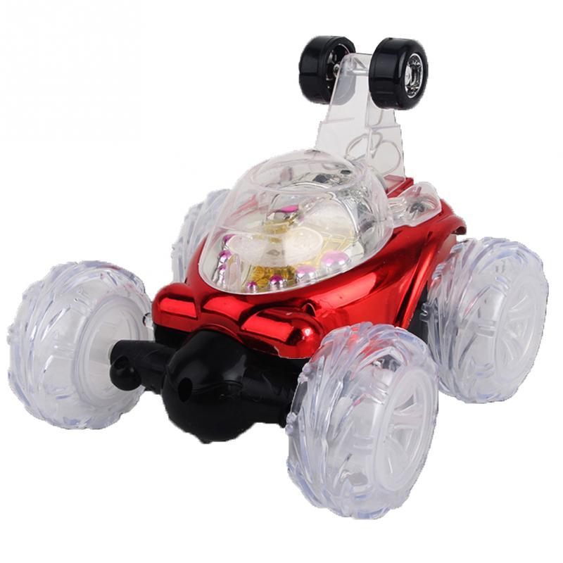Stunt Car 360 degree Turbo Twister Rechargeable RC Flashing Light music Dump RC electric toy car Gift Children Kids Present