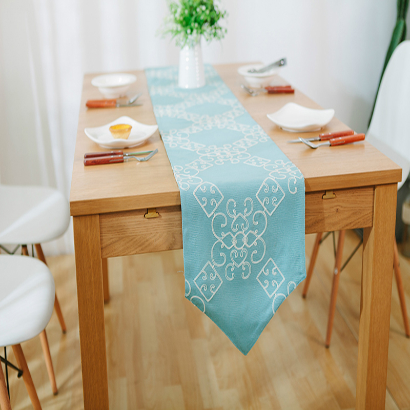 American Modern Table Runner Simple Pastoral Embroidered Table Runners  Wedding Table Runner Home Party Runners Tea