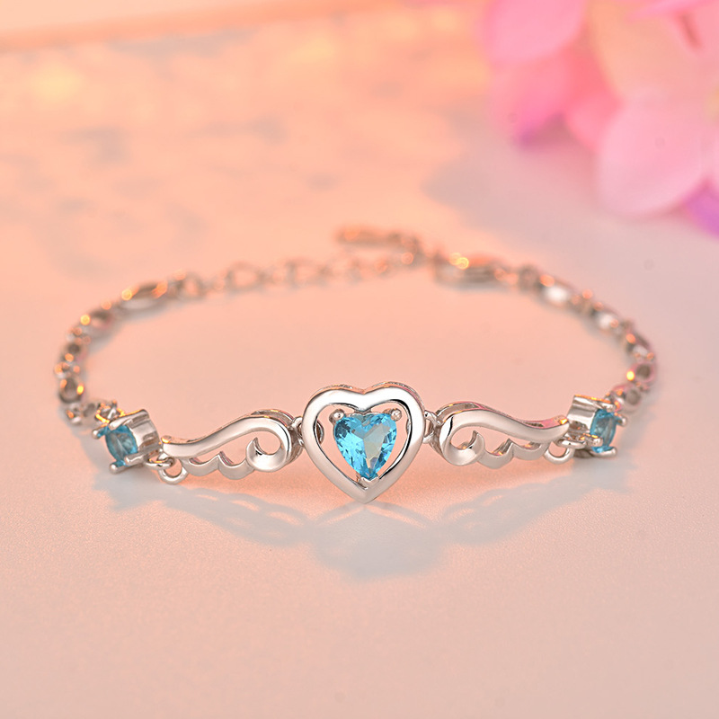 ZTUNG ZLS6 New heart good S925 Stering silver Fine jewelry bracelets for women bangles gift with free packingZTUNG ZLS6 New heart good S925 Stering silver Fine jewelry bracelets for women bangles gift with free packing