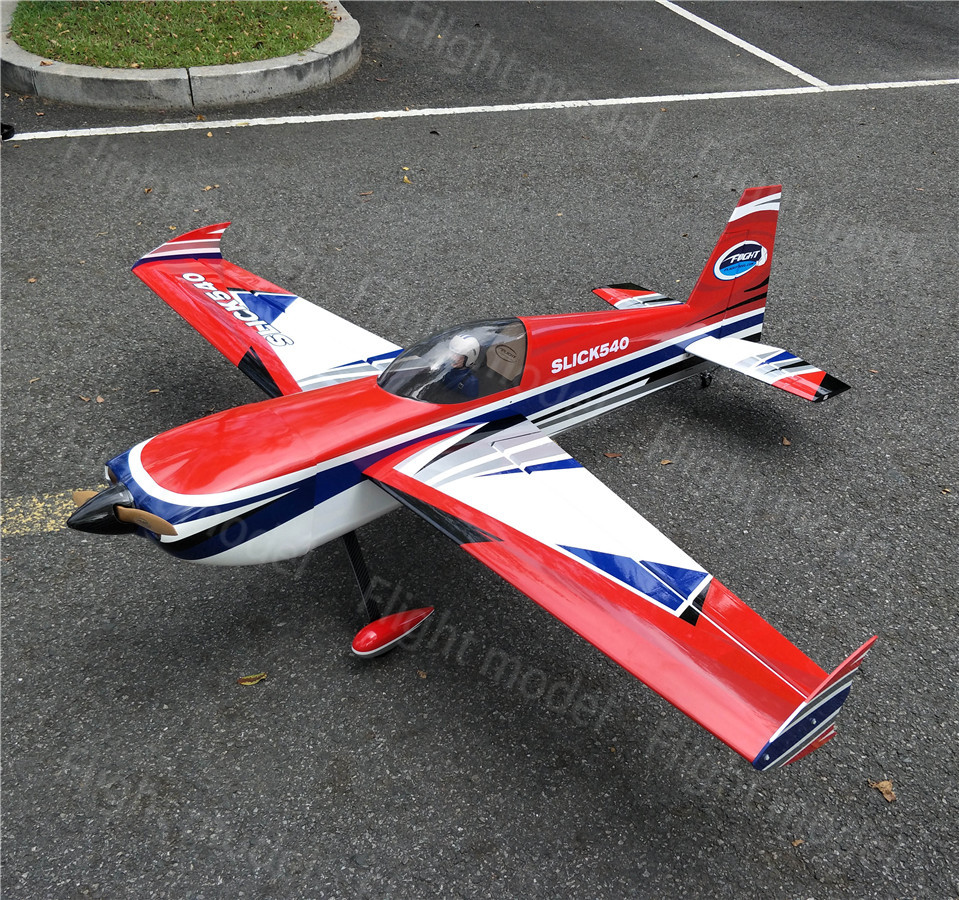 Flight-model Slick 540 78 50CC 7ch Balsa Wood Fixed Wing Gas ARF RC Airplane 3D flight Oracover