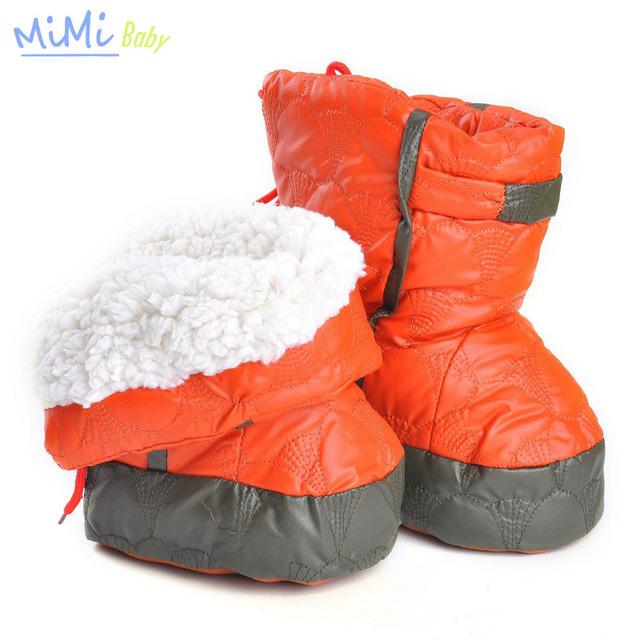 Zapatos de bebé Primeros Caminante Botas de Nieve Zapatos para Niños Botines para Recién Nacidos Primeros Caminante Zapatos de Bebé del Invierno Del Muchacho Largo Tubo caliente
