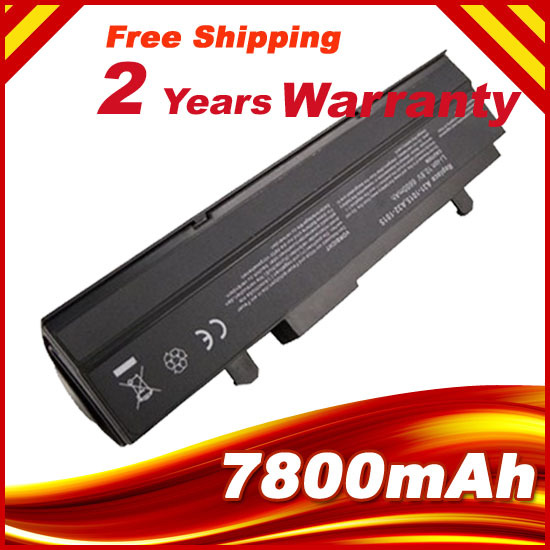 7800mAH Black Laptop Battery For Asus Eee PC VX6 1011 1015 1015P 1015PE 1016 1215N 1215B A31-1015 A32-1015 AL31-1015 PL32-1015