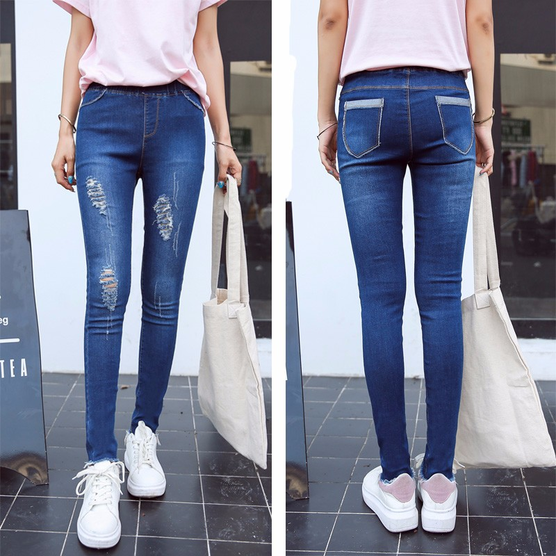 BIVIGAOS Basic Skinny Womens Jeans Ankle Pencil Pants Slim Elastic Denim Pants Jean Leggings Female Cotton Jeggings Jeans Women 56