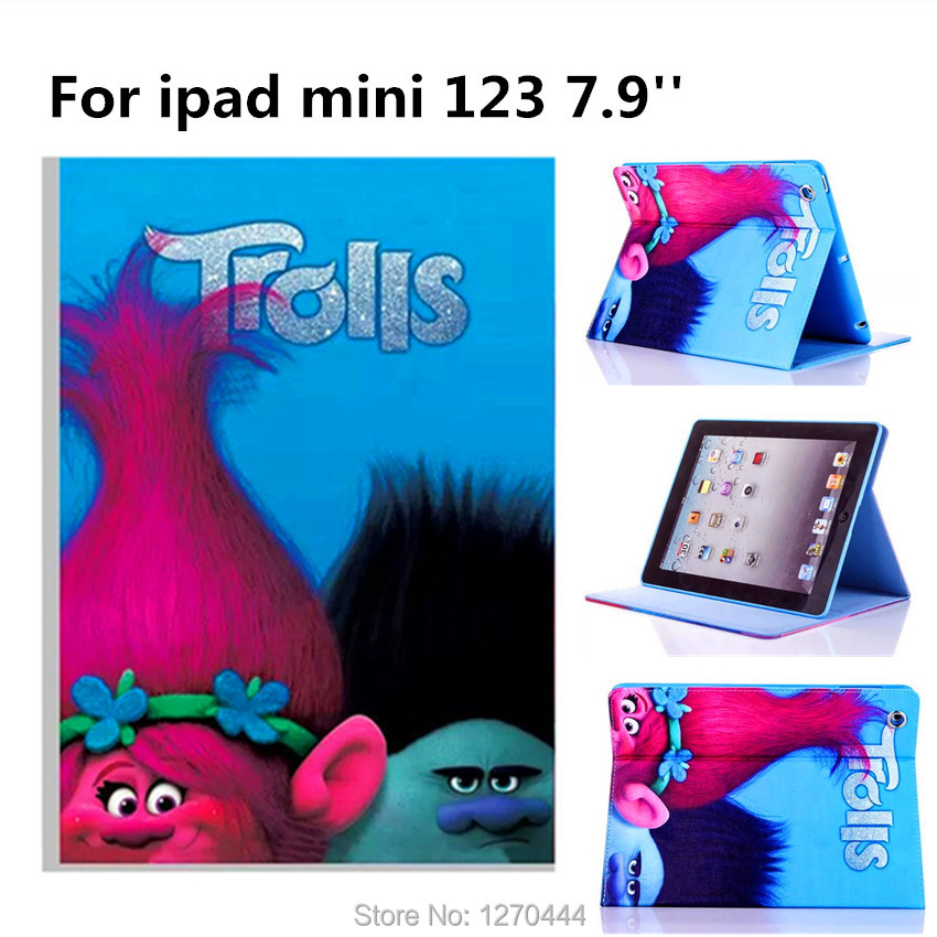 Magic wizard Cartoon Flip Stand Leather Cover smart Case for ipad mini1 ipad mini 2 ipad mini 3 fashion child Silicone case+Gift