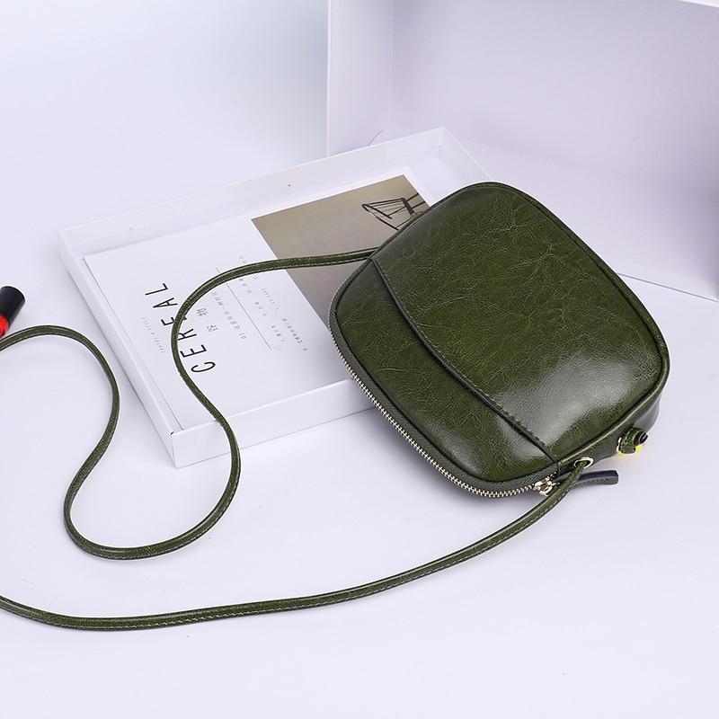 2018 Bolso de cuero para mujer Bolso de piel dividida Bolso de hombro de cuero de las mujeres Bolso de hombro con correas individuales Nueva llegada