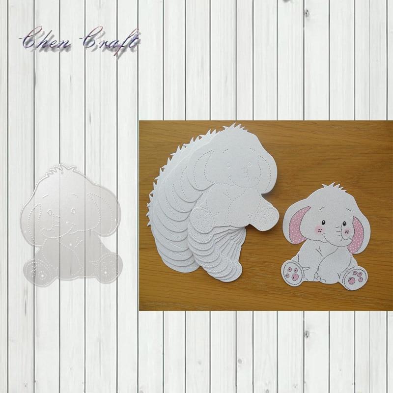 Making Photo Album Decor Embossing Stencil Elephant Scrapbooking Cutting Dies