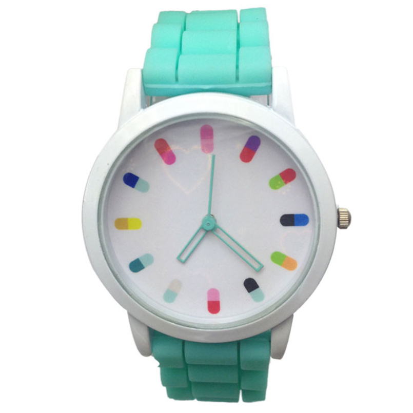 Excellent Quality Unisex Candy Color Rubber Band Quartz Analog Sport Casual Wrist Watches Boys Girls Children Watches for Gift