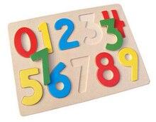 Jouets en bois, enfants l'apprentissage cognitif de Numéros puzzle, maquillage assorti, jouets éducatifs, l'enseignement des mathématiques AIDES