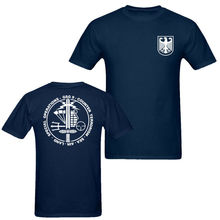 2019 Fashion Double Side German Counter Terrorism Special MenS T Shirt Navy Blue Unisex Tee