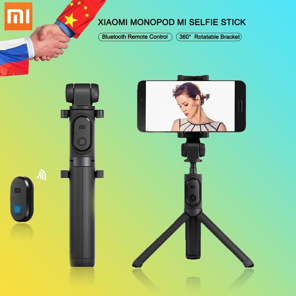 Origine Xiao mi Monopode mi Selfie Bâton Bluetooth Trépied Avec Télécommande Sans Fil Pliable Auto-bâton pour iphone 5s 6 7 mi 6 Andriod