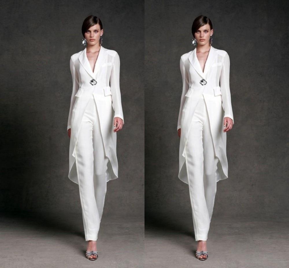 vestido para mae da noiva White trouser suit Mother of the ...