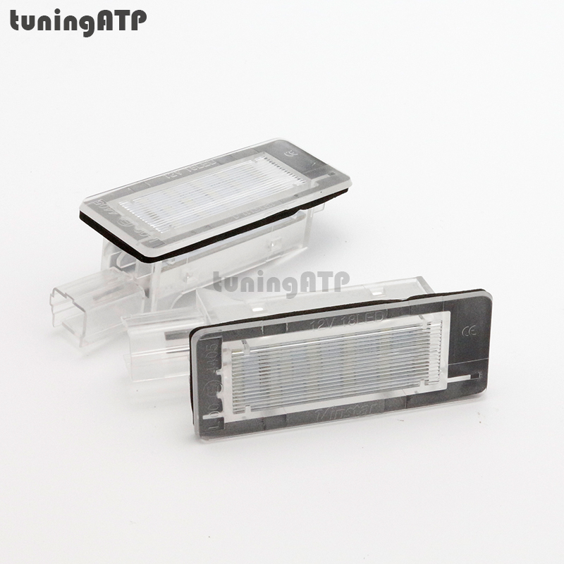 led license plate light lamp for renault captur clio iii sport tourer espace iv fluence. Black Bedroom Furniture Sets. Home Design Ideas