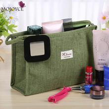Women Makeup Bag Canvas Travel Organizer Cosmetic Bag Storage Bag for Women Large Necessaries Make Up Case Wash Toiletry Bag
