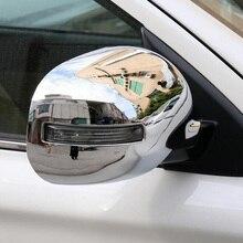 Подходит для Mitsubishi Outlander 2013- ABS Хромированная Автомобильная боковая зеркальная крышка заднего вида Накладка для стайлинга молдинги 2 шт. Новинка