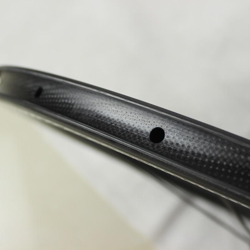 Vente chaude 700c dimple surface de roues en carbone léger poids - Cyclisme - Photo 6
