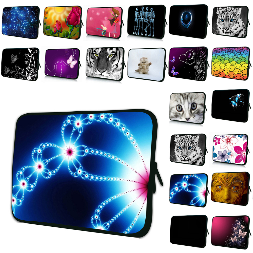 Viviration Mens Neoprene Print Laptop Sleeve Bag Hot 9.7 10 12 13 14 15 17 7 7.9 Tablet Liner Cover Case Womens Portable Pouch
