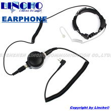 heavy duty PTT tactical walkie talkie earphone with throat mic for GP68, GP88, GP88S, GP300 radio