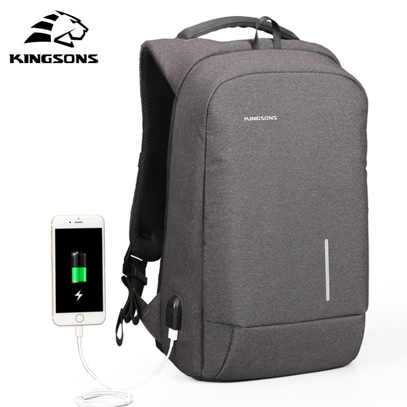 Kingsons USB Charge Men Backpack 15 6 Laptop Backpack Large Capacity Casual Waterproof font b Bag