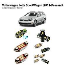 Led interior lights For volkswagen jett-a sportwagon 2011+  10pc Lights Cars lighting kit automotive bulbs Canbus