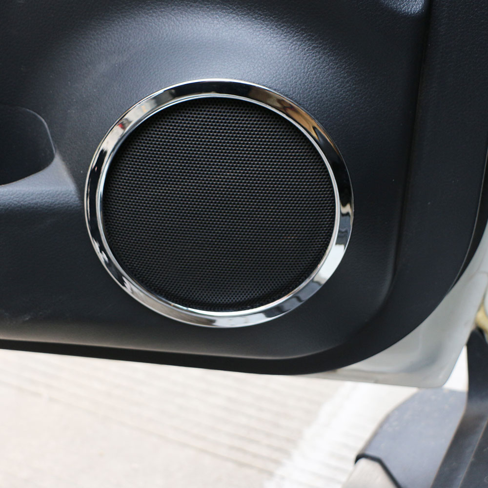 Car Door Speaker Ring Cover Speaker Decoration Trim Sticker for Nissan X Trail Xtrail Rogue T32