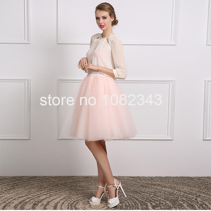 100% Real Photo Sexy Gasa Blanca Rosa de Tul Una Línea de Tres Cuartos Vestido d