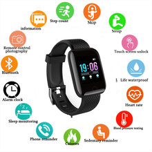 بلوتوث ساعة ذكية الرجال النساء سوار رياضي اللياقة البدنية مقاوم للماء لتحديد المواقع ضغط الدم الذكية معصمه ل هاتف الايفون والأندرويد