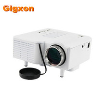 Gigxon-G28 UC28 + Mini LED Digital Video Game Proyectores Multimedia jugador Entradas AV VGA USB SD HDMI proyector Incorporado altavoz