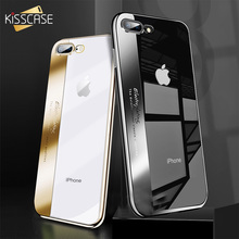 KISSCASE Classic Plating Case For iPhone 6 6s 7 8 Plus Silicone Cover For iPhone 7 X 8 6s 6 Plus Transparent Ultra Thin Capinhas цены