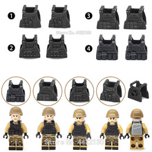 Military Bulletproof Vest Building Blocks Piece Set Lot Army Equipment Soldier Figures ww2 Special Force Moc Toy Gift Legoinglys