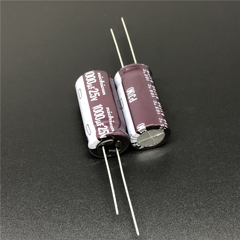 5pcs/50pcs 1000uF 25V NICHICON PJ Series 12.5x25mm Low Impedance Long Life 25V1000uF Aluminum Electrolytic Capacitor