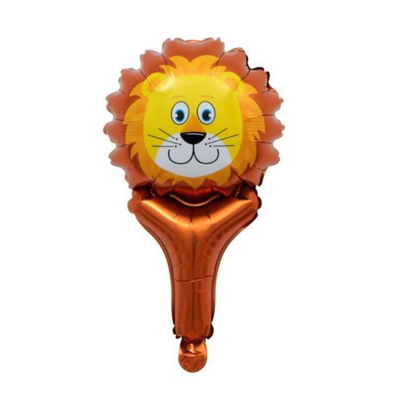 Mini Animais Mão vara balão folha De Alumínio Balão Decoração Do Partido Do balão do Aniversário dos miúdos brinquedo fontes do partido do chuveiro do bebê