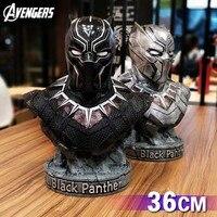 Мстители Марвел Черная пантера легенды модель половина тела статуя аниме украшения фигурку 1:6 мальчиков игрушки 36 см подарок модель
