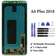 Best good quality for Samsung A6 plus 2018 A605 A605F lcd display no dead pixel for mobile phone lcd screen test before send(China)