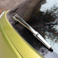For Suzuki Vitara 2016 2017 2018 styling trim ABS Plastic Chrome car rear glass wiper nozzle cover tail window frame trim