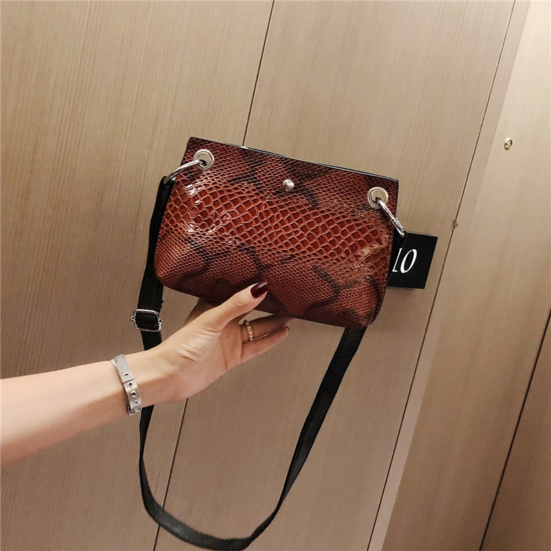 Women Alligator Snake Handbags Retro Flap Women Shoulder Bag Crocodile Crossbody Bag Ladies Handbags Double Layer Clutch Purse