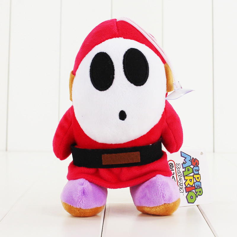 16cm cute Shy Guy plush doll toy Super Mario Bros Luigi Game action figure doll pendant toy soft stuffed doll for children gifts 11 8 plush toy stuffed toy super quality goofy dog baby toy soft doll goofy toy lovey cute doll gift for children