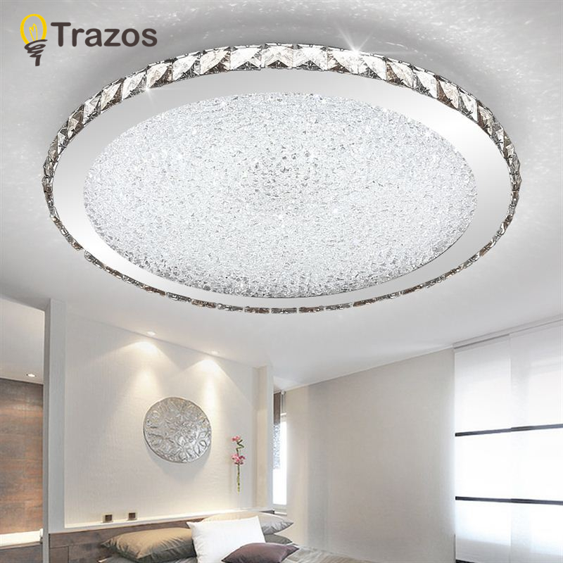 Modern K9 Crystal LED Flush Mount Ceiling Lights Fixture Mixed crystal Home Ceiling Lamps for Living Room Bedroom Kitchen цена 2017