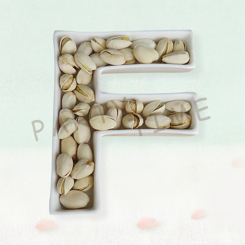 Ceramic Snack Dish, Letter Dish For Party And Wedding