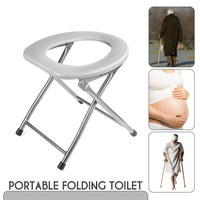 Portable Woman Toilet Training Seat Folding Baby Potty Pregnant Travel Camping Outdoors Metal Potty Toilet Seat For Kids Old Man