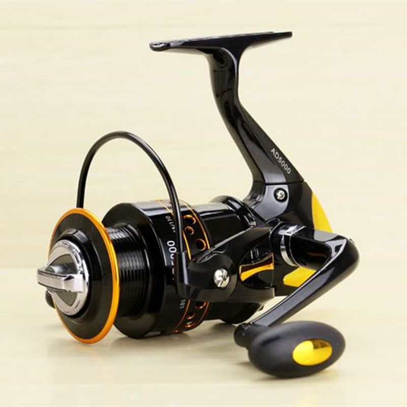 New Super Strong Fishing Reel Pre-Loading Spinning Wheel 2000/9000S Black Yellow 12+1 BB 200/600g Soft Plastic Handle цены