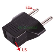 1PC Universal US To EU Plug USA To Euro Europe Travel Wall AC Power Charger Outlet Adapter Converter For Flashlight Charger