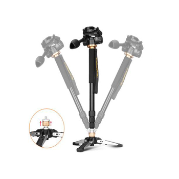 QingZhuang Camera Portable Professional DSLR Q168 Aluminum Monopod Tripod &monopod Stand Base with head for Sony Nikon